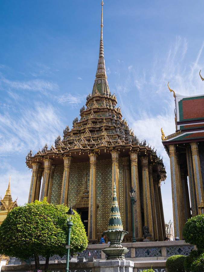 Wat Phra Kaew (le palais grand) de la Thaïlande image stock