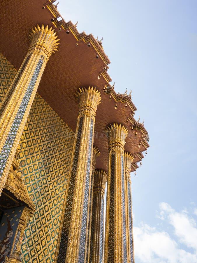 Wat Phra Kaew (le palais grand) de la Thaïlande photographie stock libre de droits