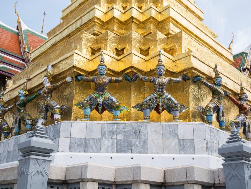 Wat Phra Kaew (le palais grand) de la Thaïlande photo libre de droits