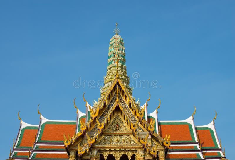 Wat Phra Kaew-overzicht stock afbeelding