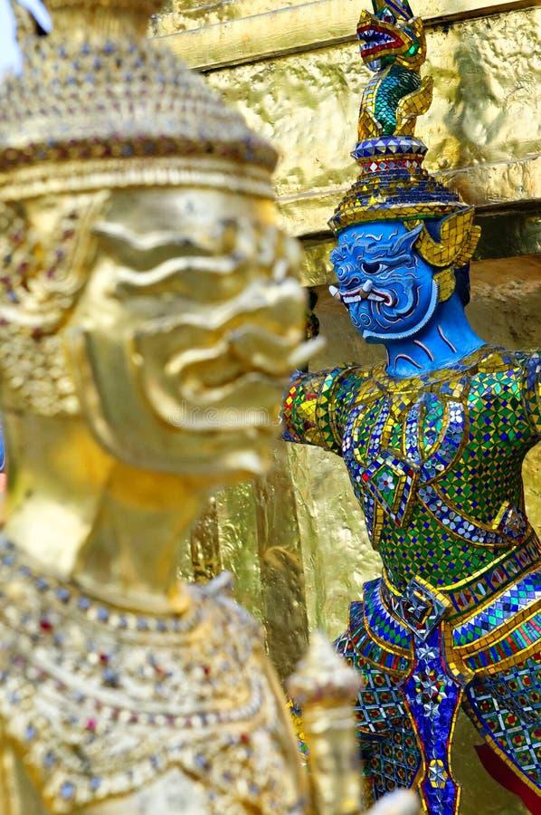Wat Phra Kaew Sonderkommandos stockfotografie