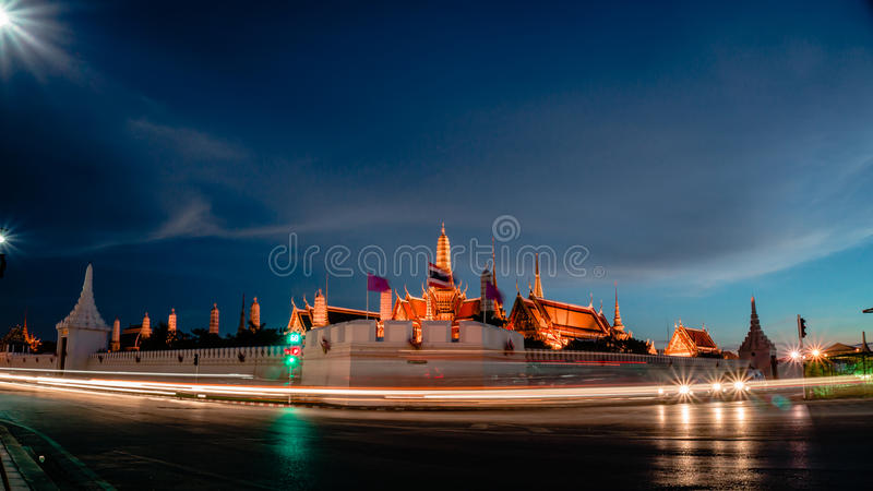 Wat Phra Kaew (tempel av Emerald Buddha) royaltyfri fotografi