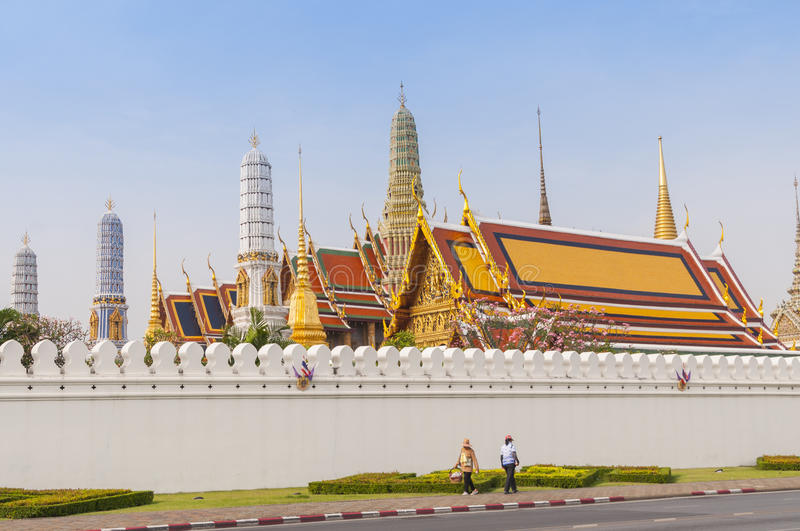 Wat Phra Kaew, temple d'Emerald Buddha, Bangkok, Thaïlande photo stock