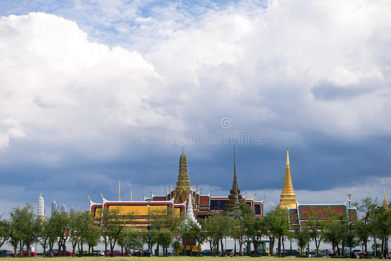 Wat Phra Kaew is Temple of the Emerald Buddha, Bangkok, Thailand. stock photo