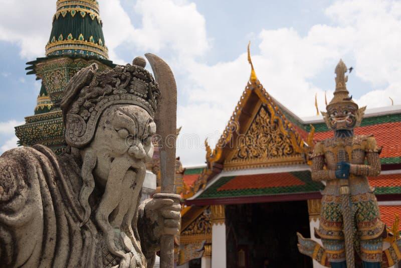 Wat Phra Kaew, Temple of the Emerald Buddha Wat Phra Kaew is een van de beroemdste toeristische plaatsen van Bangkok in Bangkok,  royalty-vrije stock afbeelding