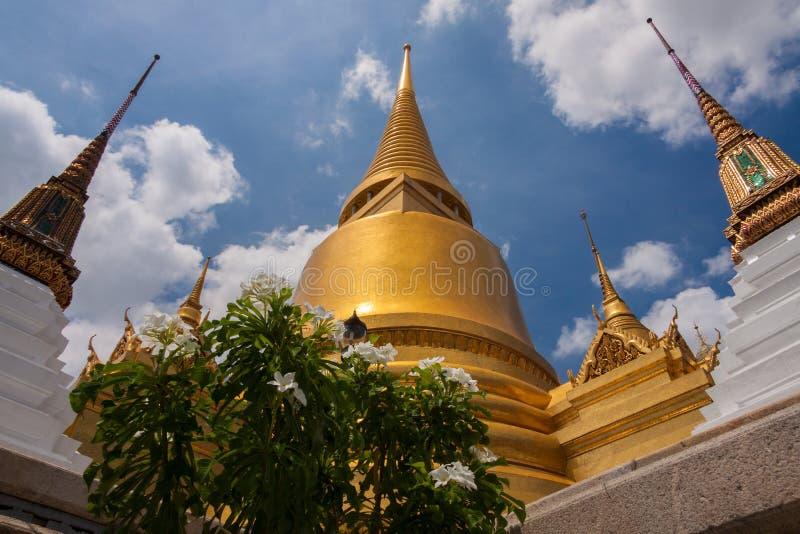 Wat Phra Kaew, Temple of the Emerald Buddha Wat Phra Kaew is een van de beroemdste toeristische plaatsen van Bangkok in Bangkok,  stock afbeelding