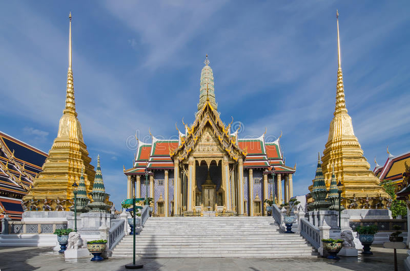 Wat Phra Kaew, templo de Emerald Buddha, Bangkok, Tailandia fotografía de archivo