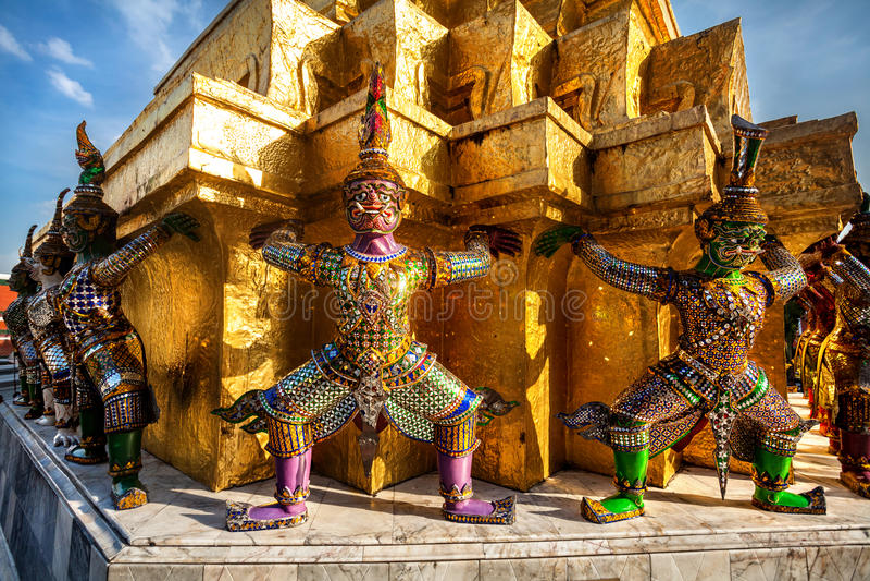 Wat Phra Kaew in Thailand stock foto