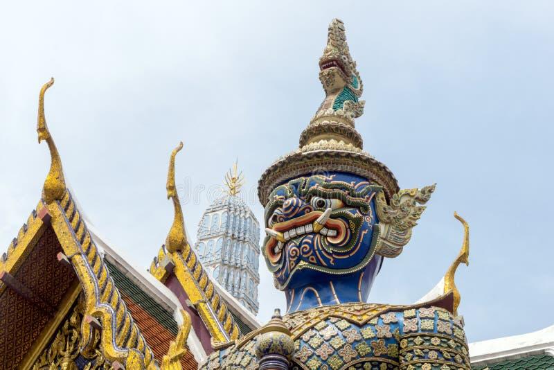 Wat Phra Kaew, Uroczysty pałac w Bangkok, Thailand zdjęcie stock