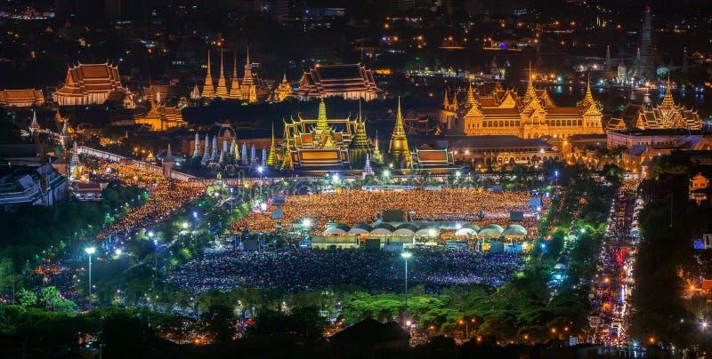 Wat Phra Keaw和泰国人 库存图片