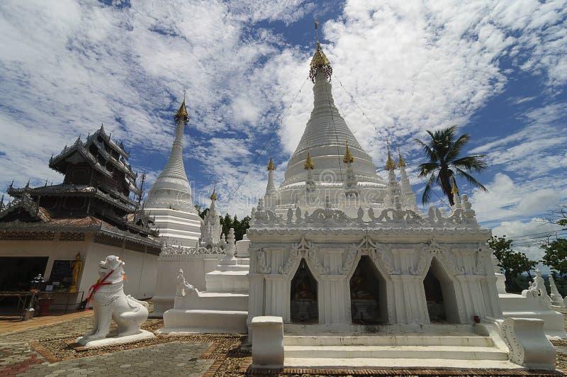 Wat Phra Który Doi Kong Mu, Mae Hong syn, Północny Tajlandia fotografia stock
