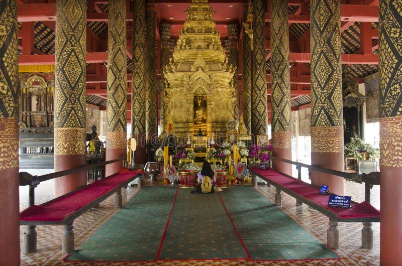 Wat Phra That Lampang Luang i Lampang, Thailand royaltyfri bild