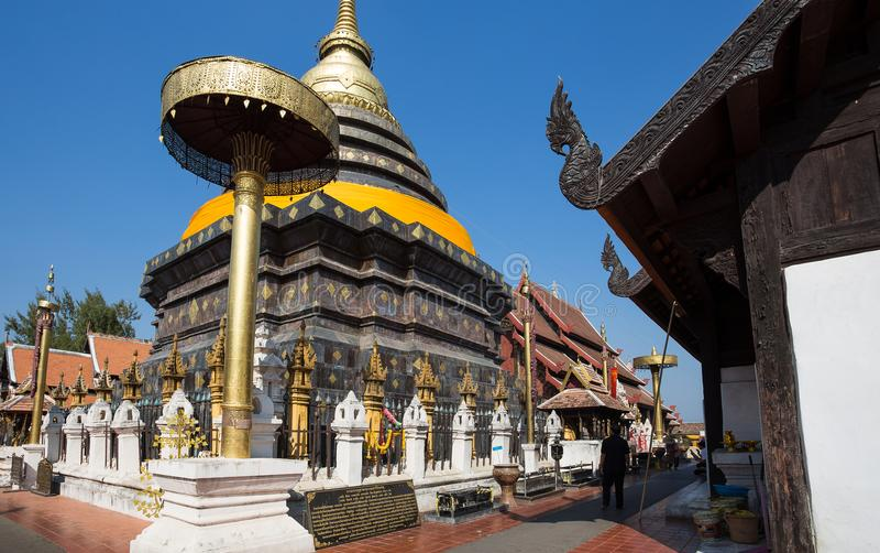 Wat Phra That Lampang Luang tempel, Lampang, Thailand arkivfoto