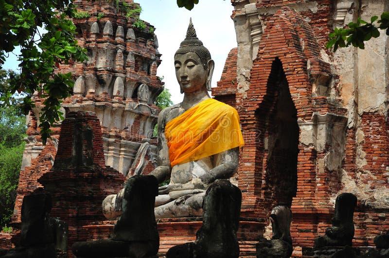 Wat Phra Mahathat de la Thaïlande Ayutthaya photos libres de droits