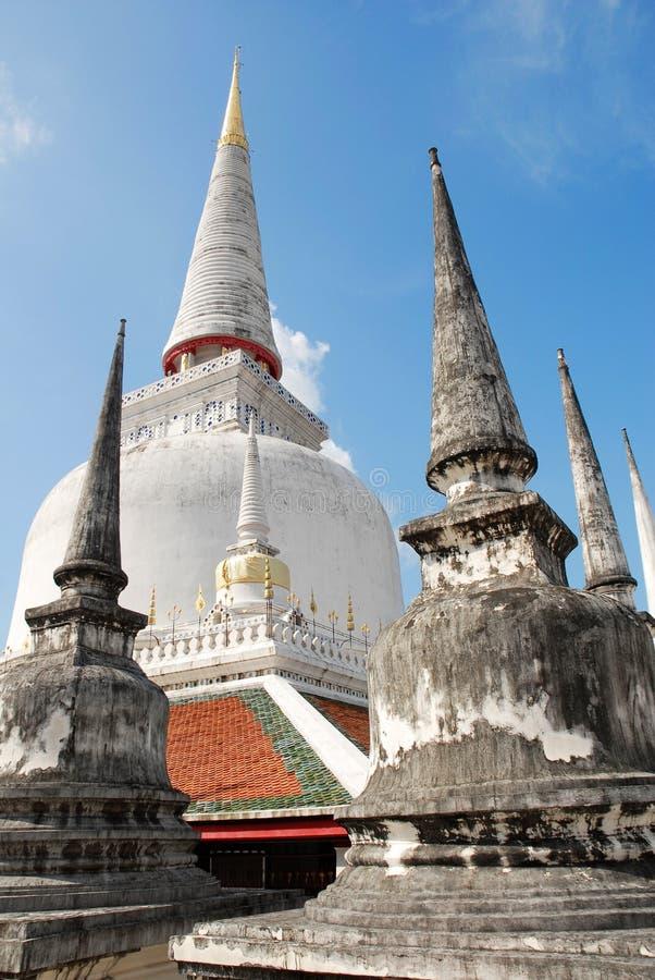 Wat Phra Mahathat, Nakhon Si Thammarat, Thailand lizenzfreies stockfoto