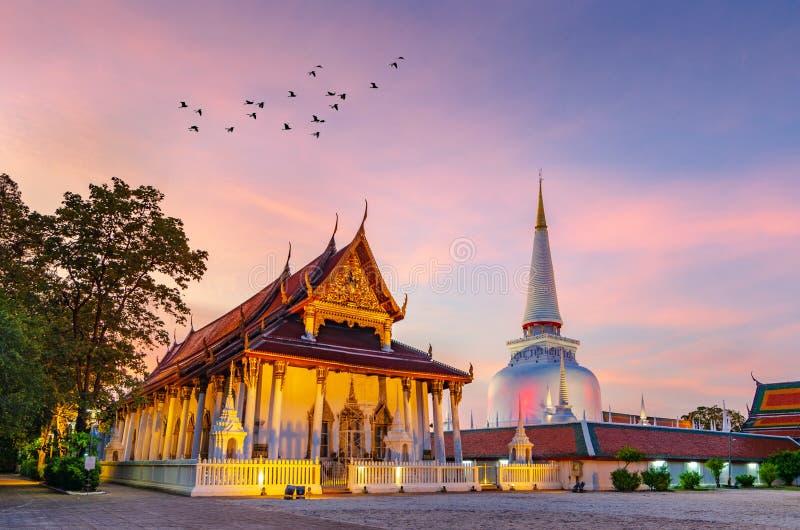 Wat Phra Mahathat Woramahawihan Nakhon Sri Thammarat Thailand lizenzfreie stockbilder