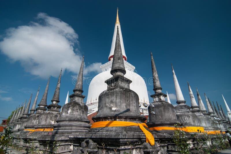 Wat Phra Mahathat Woramahawihan Nakorsrithammarat Thailand royalty-vrije stock fotografie