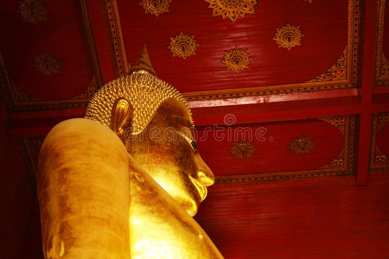 Wat Phra Mongkhon Bophit Image, Ayutthaya, Thailand. Phra Mongkhon Bophit is one of the largest bronze Buddha images in Thailand. The image is believed to have royalty free stock photography