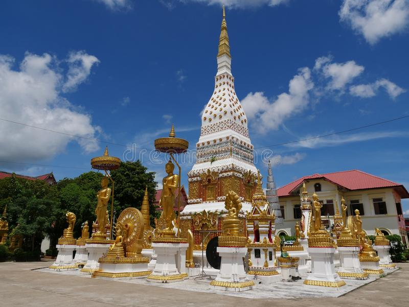 Wat phra that at Nakorn Phanom Thailand. Near the banks of the Mekong river in the village of That Phanom in Nakhon Phanom province lies one of the most highly royalty free stock photography
