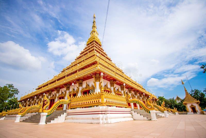 Wat Phra That Nong Wang Khon Kaen, Thailand arkivfoton