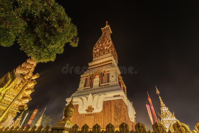 Wat Phra That Panom temple at night, Nakhon Phanom, Thailand. Wat Phra That Phanom temple at night, Nakhon Phanom, Thailand stock photo