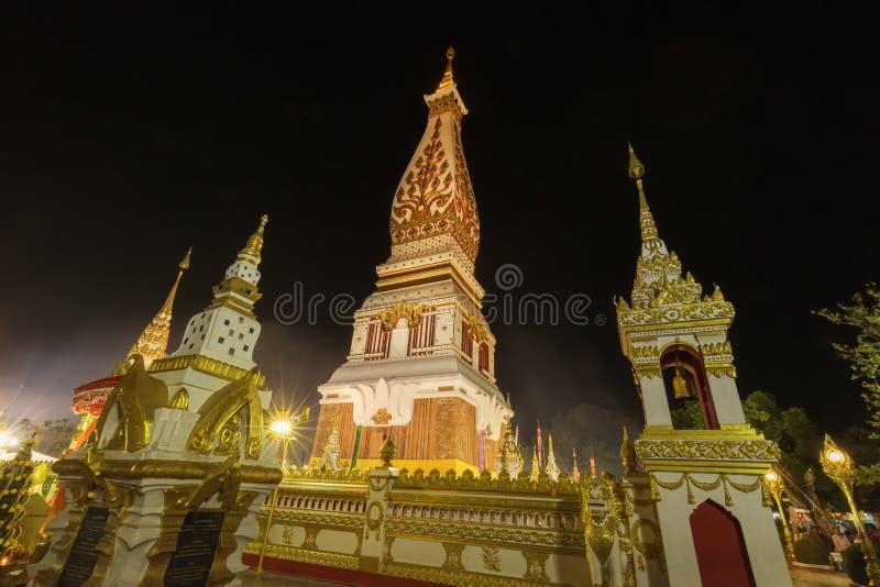 Wat Phra That Panom temple at night, Nakhon Phanom, Thailand. Wat Phra That Phanom temple at night, Nakhon Phanom, Thailand stock image
