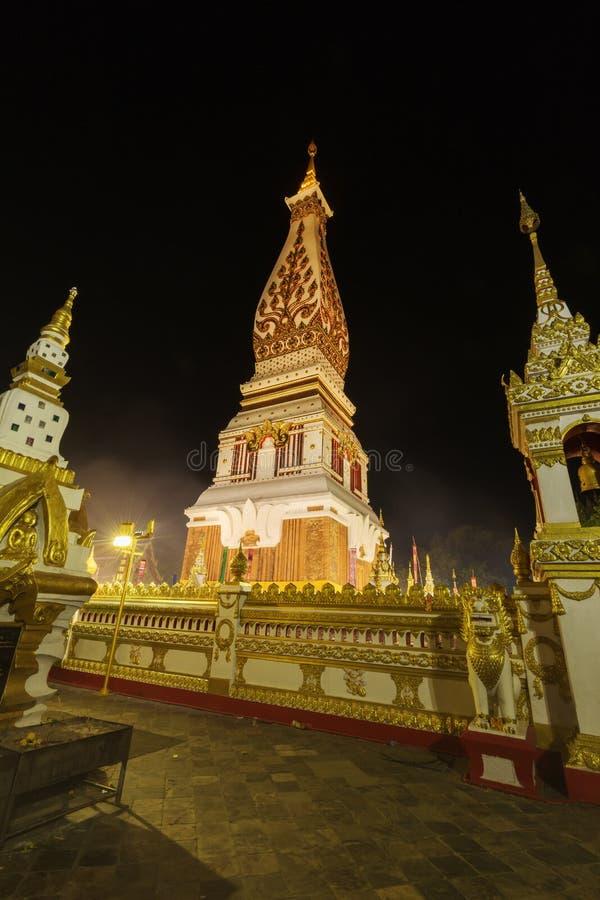 Wat Phra That Panom temple at night, Nakhon Phanom, Thailand. Wat Phra That Phanom temple at night, Nakhon Phanom, Thailand stock photography