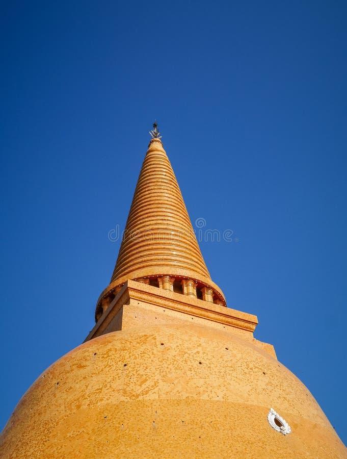 Wat Phra Pathom Chedi, το πιό ψηλό stupa στον κόσμο, φανταστικό βουδιστικό οικοδόμημα σε Nakhon Pathom στοκ εικόνες