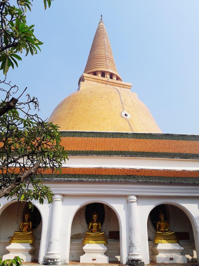 Wat Phra Pathom Chedi imagem de stock royalty free