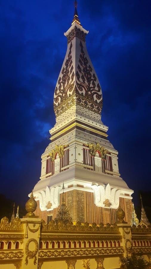Wat Phra That Phanom-Abend lizenzfreie stockbilder