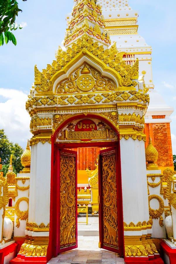 Wat Phra That Phanom, el templo público y lugar popular para el turista que localizó en la provincia de Nakhon Phanom, Tailandia fotos de archivo libres de regalías