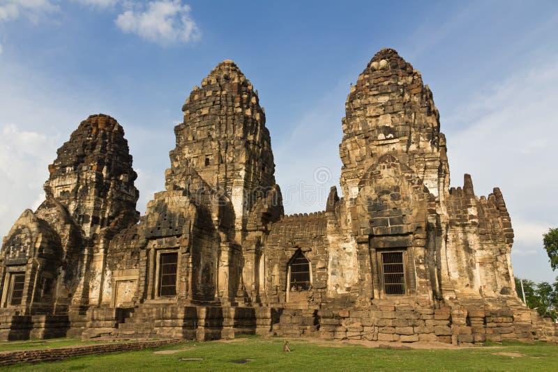Wat Phra Prang Sam Yot fotografía de archivo