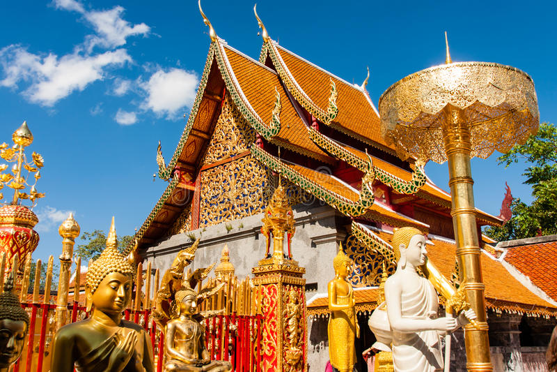Wat Phra que Doi Suthep, Chiang Mai, Tailândia fotos de stock royalty free
