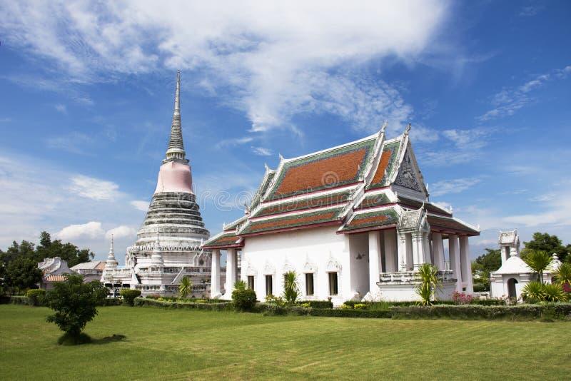Wat Phra Samut Chedi-tempel in Samut Prakan, Thailand stock fotografie