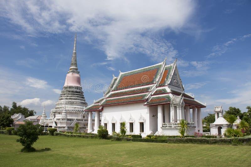 Wat Phra Samut Chedi-Tempel in Samut Prakan, Thailand lizenzfreie stockfotos