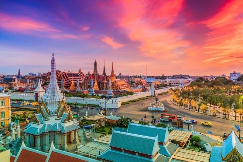 Wat Phra Si拉塔纳Satsadaram或曼谷玉佛寺 免版税库存图片