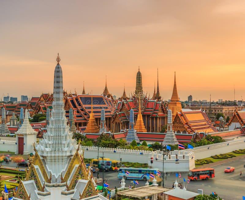 Wat Phra Si拉塔纳Satsadaram或曼谷玉佛寺 库存图片