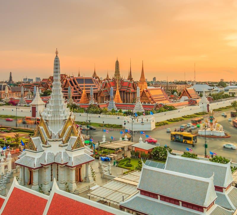 Wat Phra Si拉塔纳Satsadaram或曼谷玉佛寺 免版税库存照片