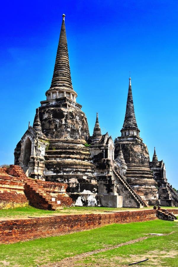 Wat Phra Si Sanphet, буддийский висок в Ayutthaya, Таиланде стоковое фото rf