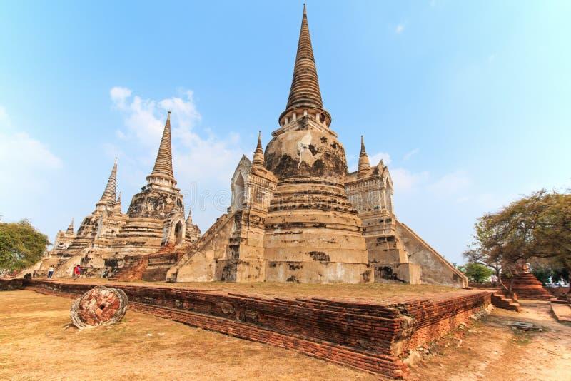 Wat Phra Si Sanphet в Ayutthaya, Таиланде стоковая фотография rf
