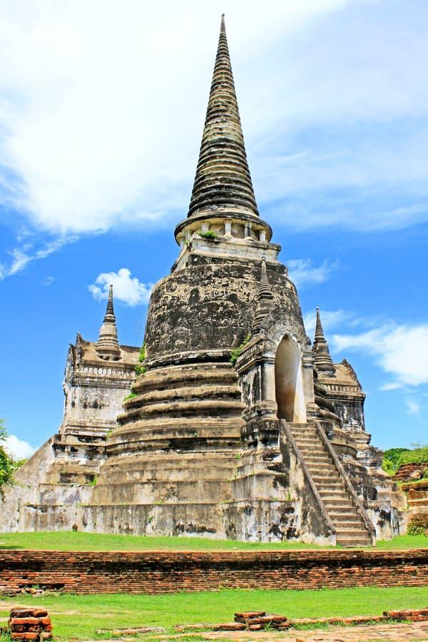 Wat Phra Si Sanphet, Ayutthaya, Таиланд стоковое фото