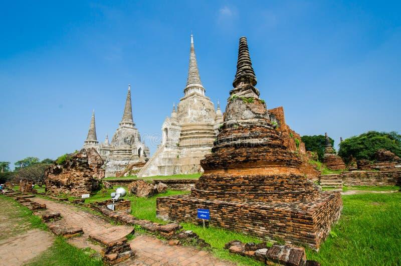 Download Wat Phra Si Sanphet, Ayutthaya Fotografering för Bildbyråer - Bild av stil, liggande: 27275367