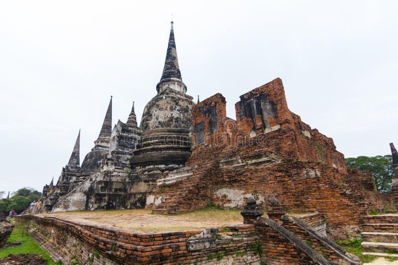Wat Phra Si Sanphet Ayutthaya Thailand stock afbeeldingen