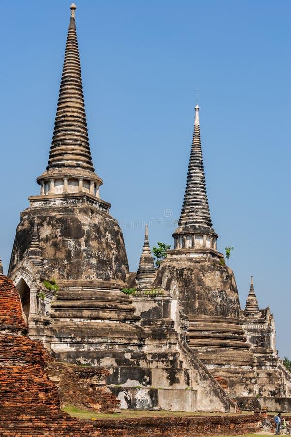 Wat Phra Si Sanphet, Ayutthaya, Thailand stock afbeelding