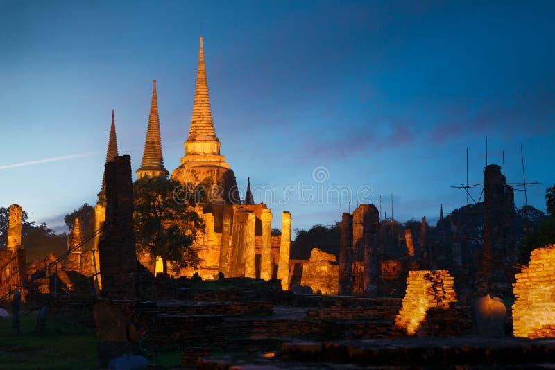 Wat Phra Si Sanphet, Ayutthaya, Thailand stock foto's