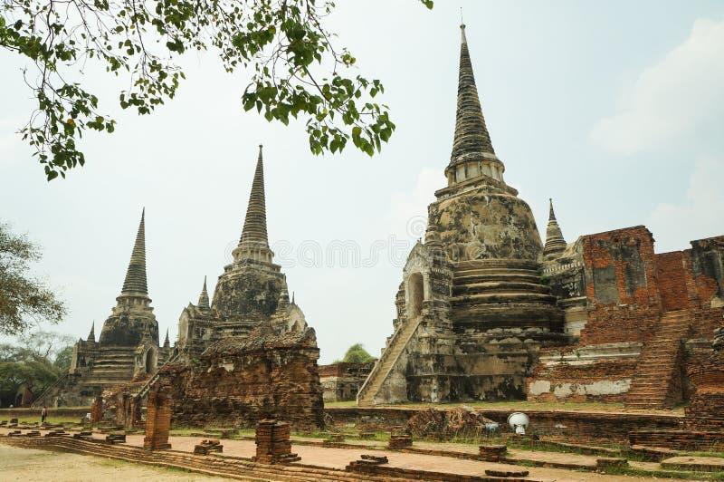 Wat Phra Si Sanphet, en Ayutthaya imagenes de archivo