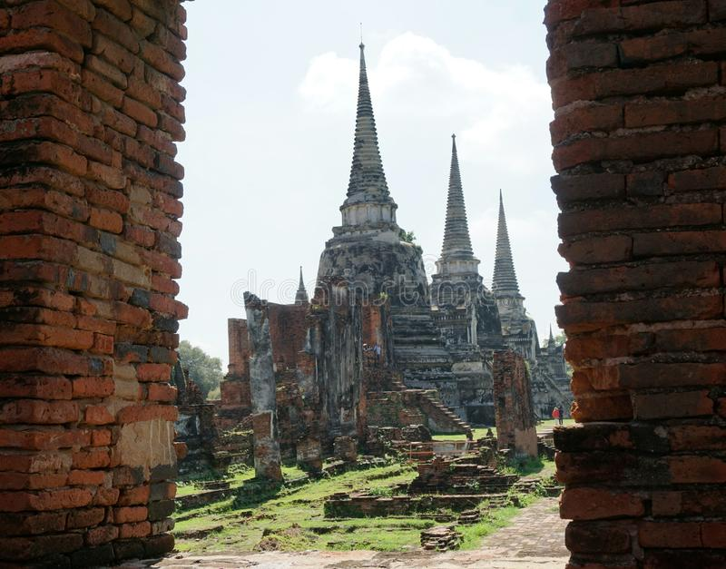 Wat Phra Si Sanphet the most important temple in Ayutthaya Thailand on September 24,2017. Wat Phra Si Sanphet the most important temple in Ayutthaya Thailand on stock photos