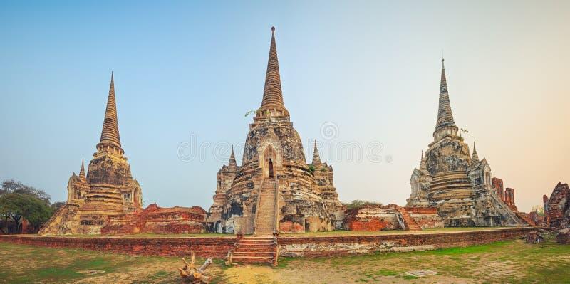 Wat Phra Si Sanphet Panorama lizenzfreies stockfoto