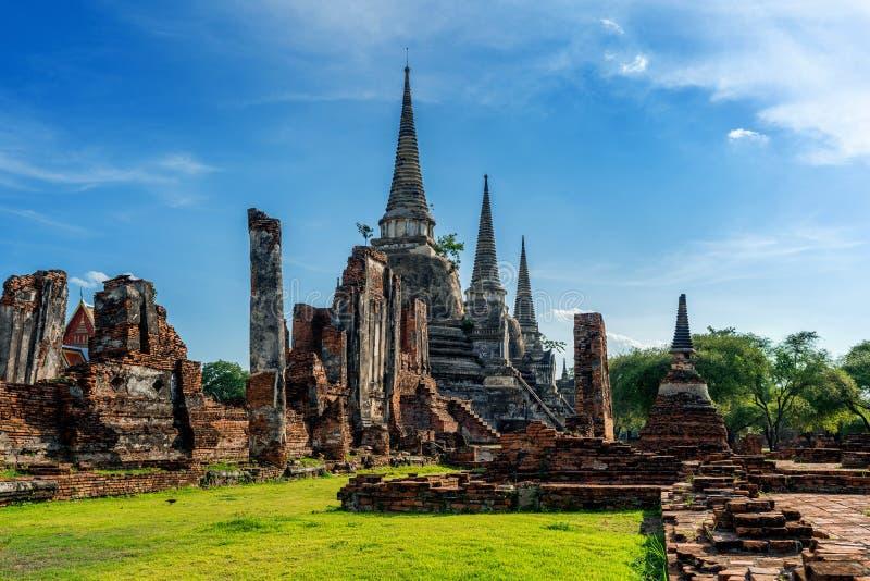 Wat Phra Si Sanphet temple in Ayutthaya Historical Park, Ayutthaya Province, Thailand. UNESCO world heritage. stock photo