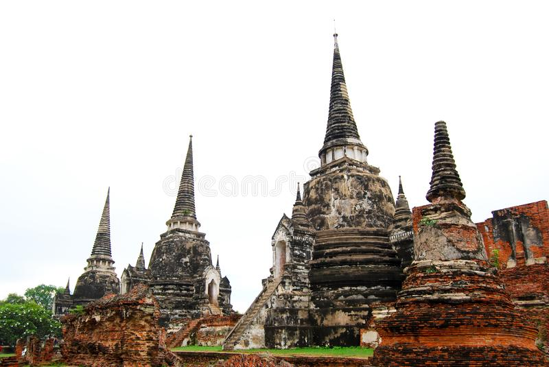 Wat Phra Si Sanphet was the holiest temple on the site of the old Royal Palace in Thailand`s ancient capital of Ayutthaya, Templ. E of the Holy, Splendid stock photos